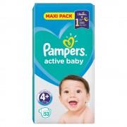PAMPERS Active Baby Vel.4+ Dětské pleny 10-15kg 53 ks