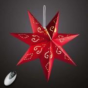 Red LED paper star Dilja