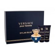 Versace Pour Femme Dylan Blue 50Ml Edp 50 Ml + Body Lotion 50 Ml + Shower Gel 50 Ml Per Donna (Eau De Parfum)
