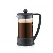 Bodum BRAZIL Cafetière à piston, 3 tasses, 0.35 l, PC incassable Noir