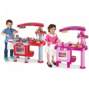 Pretend Play Kitchen Set: Red