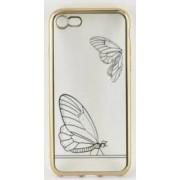 Skin Tellur pentru iPhone 7 Fluture Auriu