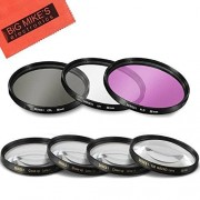 Big Mike's 58mm 7PC Filter Set for Canon Rebel T5, T6, T6i, T7i, EOS 80D, EOS 77D Cameras with Canon EF-S 18-55mm f/3.5-5.6 IS Lens Includes 3 PC Filter Kit (UV-CPL-FLD) and 4PC Close Up Filter Set (+1+2+4+10)