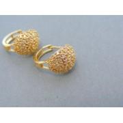 Zlaté dámske náušnice zaujímave vyrobené zo žltého zlata kamienky DN397Z