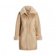 Lauren Faux-Shearling Coat - Camel - Size: Extra Large