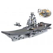 Sluban Bouwstenen Aircraft Carrier Serie Vliegdekschip 9-in-1