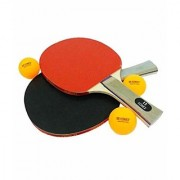 Table Tennis rackets with 3 balls