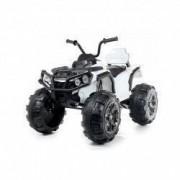 ATV electric pentru copii NITRO Offroad 12V cu Telecomanda Music player ALB
