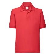 Koszulka dziecięca Polo 65/35 Fruit of the Loom Czerwony