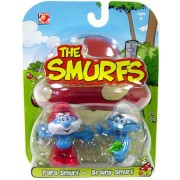 Smurfs 2 Inch Articulated Mini Figure 2-Pack Papa Smurf and Brainy