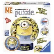 Puzzle 3D Minions Cu Lumina 72 Piese taiate si indoite in mod diferit