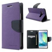 Korean Mercury Fancy Diary Wallet Case for Samsung Galaxy A3 - Purple