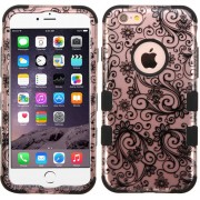 Funda Case Para IPhone 6 Plus Protector De Uso Rudo TUFF - Rose Gold Lace