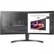 "Монитор LG 34WL85C-B, 34"" Curved WQHD (3440 x 1440) IPS Display, 5ms, CR 1000:1, 300 cd/m2, 21:9, 3440x1440, HDR 10, sRGB over 99% , HDR 10, USB 3.0, HDMI, DisplayPort, Speaker 2ch 7w, PBP, Height / Tilt Adjustable Stand, Black"
