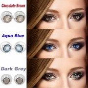 Colour Lans Monthly Zero Power CL05 Choclate Brown Aqua Blue Dark Grey