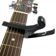 Quick Change Folk Guitarra Acústica Banjo Capo Clamp Clamp, Negro