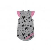 Rochie Stars - detaliu roz, 4-6 ani