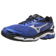 Mizuno Men's Wave Inspire 13 Running Shoe, Strong Blue/Silver, 12 2E US
