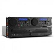 Power Dynamics Power Dynamic PDX115, kettős DJ-CD-Player-Controller SD, USB, CD, MP3, rackre szerelhető (Sky-172.713)