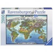 Puzzle harta lumii 2000 piese Ravensburger