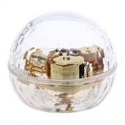 MagiDeal Acrylic Clear Hand Cranked Musical Mechanism Music Box for Wedding Party Decor Birthday Gift - clear, Let It Go