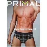 Primal 3 Slip uomo Primal in cotone a motivo scozzese con elastico logo