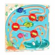 Puzzle labirint Crocodilul Topbright, 15 piese, 2 ani+