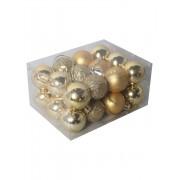 Set 24 globuri mici, 2.5 cm, pentru brad -Auriu