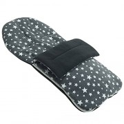 For-your-Little-One Fleece Footmuff Compatible With Chicco Trio living - Grey Star