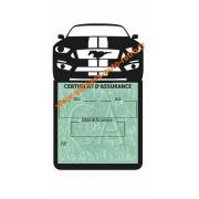 Porte vignette auto Ford Mustang Fastback