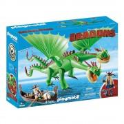 Playmobil Set de Construcción Playmobil Eructo y Guacara con Brutacio Tórton y Brutilda Tórton 45 Piezas