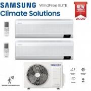 Samsung Climatizzatore Condizionatore Samsung Inverter Dual Split Windfree Elite 9000+9000 Con Aj040txj R-32 Classe A+++ Wifi - New 2020 9+9