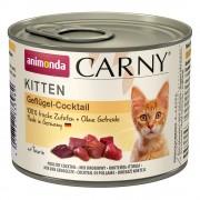 Animonda Carny Kitten 6 x 200 г - коктейл от птиче месо
