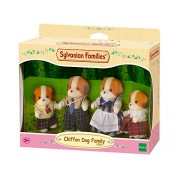 Sylvanian Families Chiffon Dog Family By Epoch