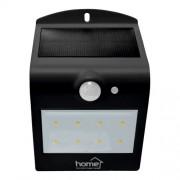 Szolár paneles LED reflektor, mozgásérzékelős, fekete