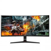 "LG 34GL750-B, 34"" Curved, 21:9 UltraWide Gaming Monitor, QHD (2560 x 1080) IPS Anti Glare, 5ms, (1ms MBR) 144Hz, 1000:1, 300cd/m2, sRGB 99%, NVIDIA G-SYN, HDR 10, USB 3.0, HDMI, DisplayPort, Height, Tilt, Headphone Out, Black"