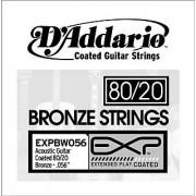 D'Addario EXPBW056 EXP Coated 80/20 Bronze Single String .056