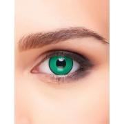 Vegaoo Kontaktlinsen grün und schwarz Erwachsene