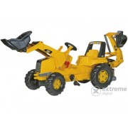 Tractor cu pedale și cupă Rolly Junior CAT cu excavator