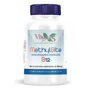 Vbyotics MethylBite Chewable Methylcobalamin 180 Tablets