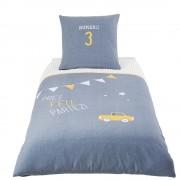 Maisons du Monde Parure da letto bambino in cotone blu, 140x200 cm
