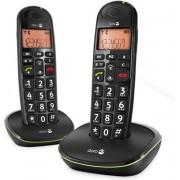 Doro PhoneEasy 100W - Duo DECT telefoon - Zwart