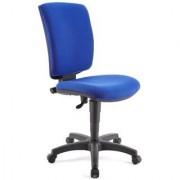Ofisillas Silla de oficina ATLAS SIN BRAZOS, respaldo ajustable, en tela azul