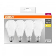 Set 4x bec Led Osram, LED BASE CLASSIC A, E27, 11W (75W), lumina calda (2700K) 000004058075184992