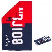 Nabaiji Serviette microfibre imprimé rouge/bleu L 80 x 130 cm - Nabaiji