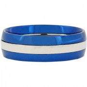 The Jewelbox Neon Blue With Tungsten Triple Wedding Engagement Band Ring