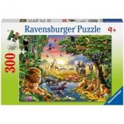 Puzzle seara in jungla, 300 piese Ravensburger