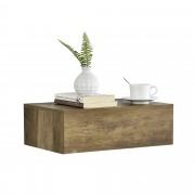 Нощно шкафче за стенен монтаж с едно чекмедже [en.casa]® , Ефект Дърво, 46x30x15cm