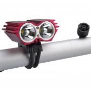 Richfire Sf-607b 2 LEDs 2000 Lm Cree XML - T6 Cool White LED Ojo De águila Bicicleta Faro Con Fuerte / Medio / Bajo / Fast Strobe Modos (rojo)