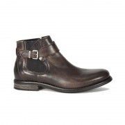 Ghete Barbati Sneaky Steve Milton Leather Shoe Kaki